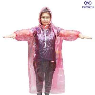 เสื้อกันฝนพลาสติกใส
